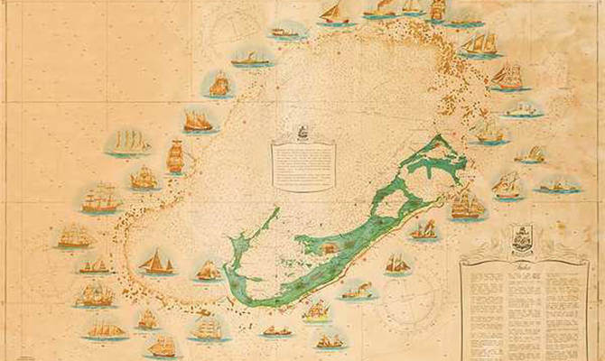 Shipwrecks In Bermuda Bermuda - Bermuda islands map