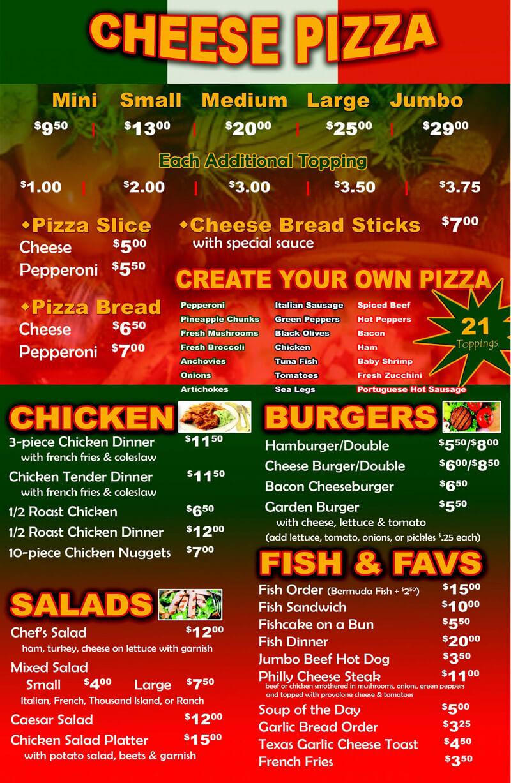 Pizza House Nablus Menu