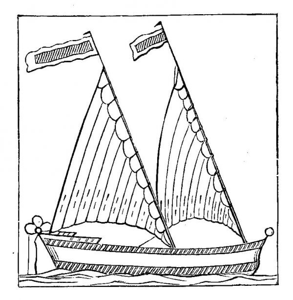 Bermuda Rig Woodcut 1671