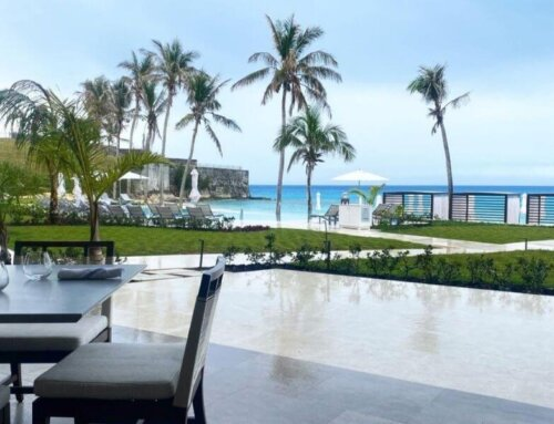 Idyllic Ocean Front Dining Even On A Rainy Day At The St. Regis Bermuda Resort